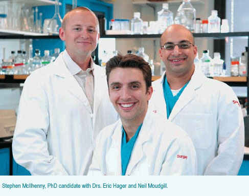 Stephen McIhenny, PhD candidate;  Eric Hager, MD; Neil Moudgill, MD
