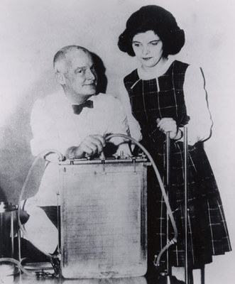 Dr. Gibbon with patient Cecelia Bavolek