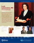 Leah Lowenstein, MD Nation's first female Dean of a co-ed medical school (1981) by Michael Angelo and Matt Varrato