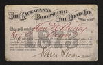 The Lackawanna and Bloomsburg Rail Road Co. Annual Ticket by E. W. Bailey