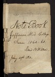 Note Book. Jefferson Med. College. Session 1862-63. by David B. Willson