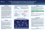 The Effects of Formalized Team Training on Key Patient Outcomes  in an Otolaryngology- Head and Neck Surgery Residency