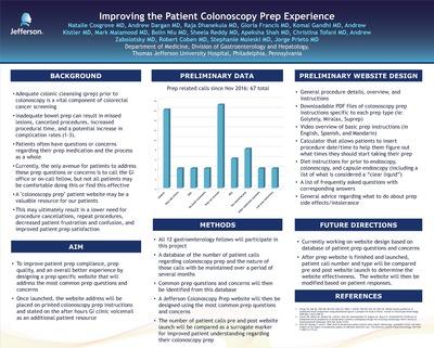 Improving the Patient Colonoscopy Prep Experience