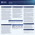 Standardized Discharge Instructions and their Impact on Post Operative Patient Knowledge