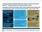 """Getting Sexual and Gender Minority Health """"Into the Brick and Mortar"""": A Mixed Methods Implementation Study by M. L. Pratt-Chapman"""