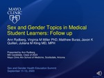 Sex and Gender Topics in Medical Student Learners: Follow up