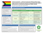 Critical Content-A Novel Graduate Medical Education Intervention to Address Gender & Sexual Minority/Differences in Sexual Development Health by A. Filip, MD; E. Halpern, MD; and A. Waad, MA