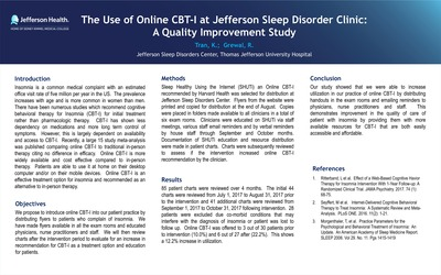 Department of Sleep Medicine Posters | Sleep Medicine at Jefferson